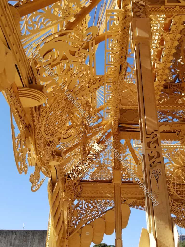 Burning Man temple: ceiling