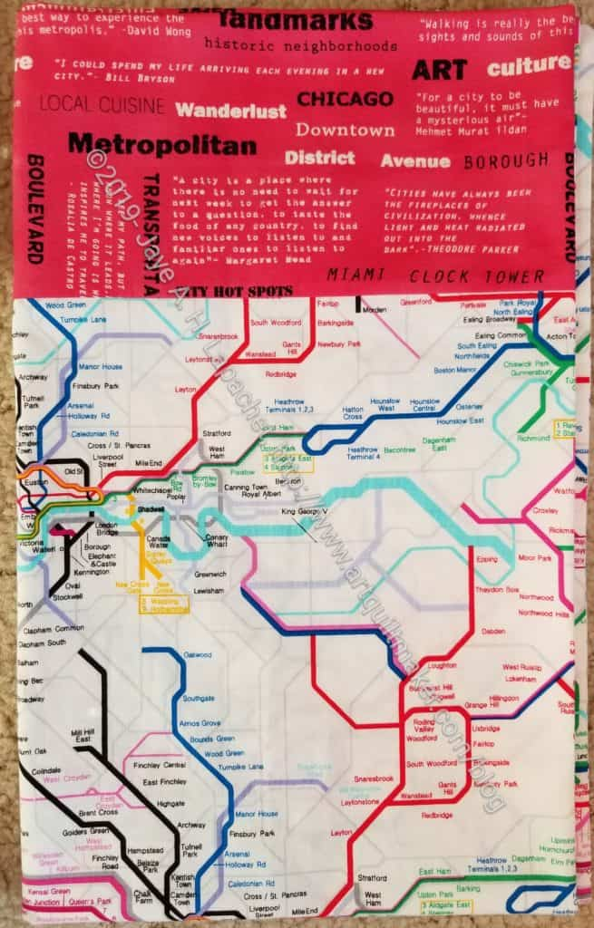 London subway map pillowcase