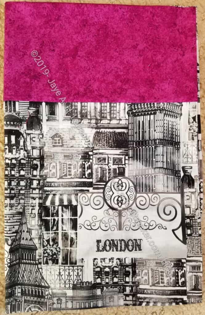 London pillowcase
