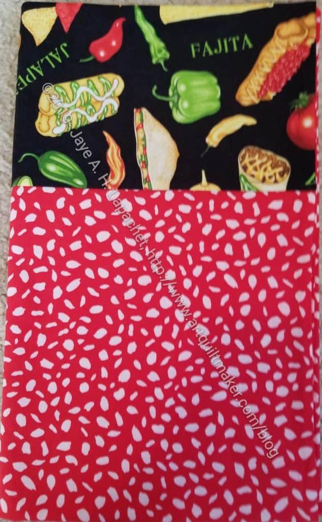 Mexican Food cuff pillowcase