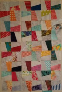 Windmill first sewn blocks - layout 2