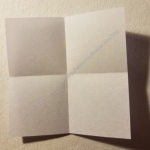 Fold the paper twice