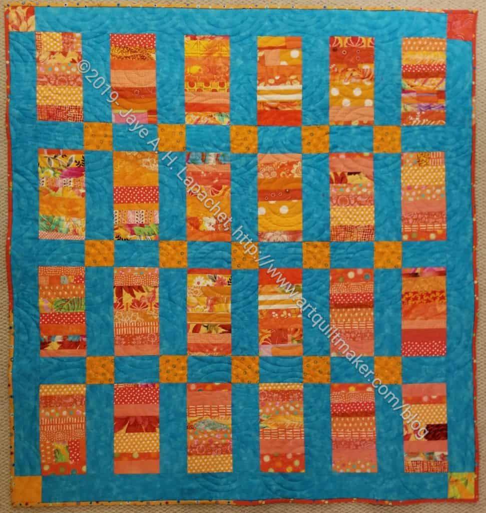 Orange Strip Donation quilt