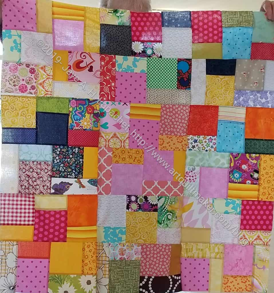 Scrappy Community Sew Day quilt