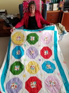Mom's hand quilting project