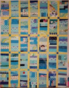 Blue Strip donation Top - without outer border