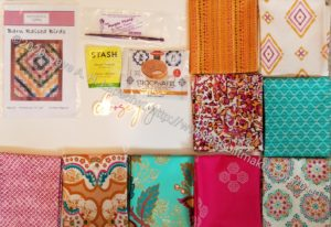 Modern Quilter's Box, April -everything laid out