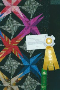 Spiky Stars at Marin Needlearts Guild Show winner