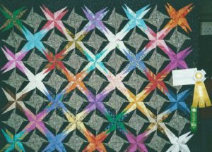 Spiky Stars at Marin Needlearts Guild Show