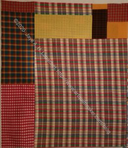 Plaid Donation Quilt Back
