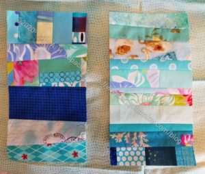 Blue Strip #2 Blocks with sashing option
