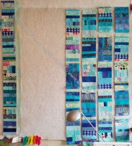 Blue Strips #2 - adding sashing