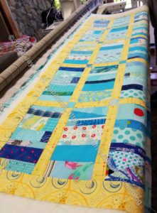Blue Strip on the longarm