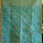 Blue Strip Donation quilt back - finsihed