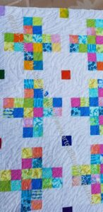 Traffic Jam Quilt quilted - detail