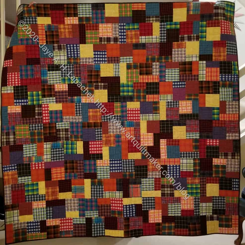Plaid Block Party completed - front