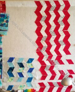 Seaside Table Runners in process