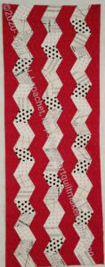 Red Text Table Runner - quilted