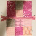 Mini Pink Pouch zipper panel