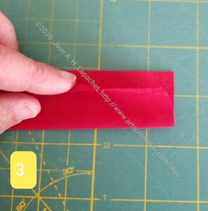 Fold your strip in half lengthwise
