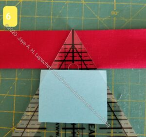 Place post-it note on ruler