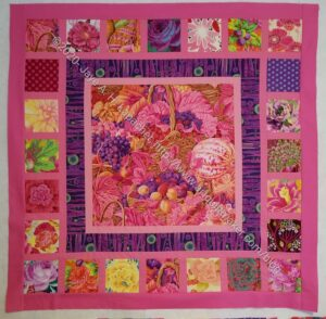 Pink Kaffe Quilt - 1st pieced border