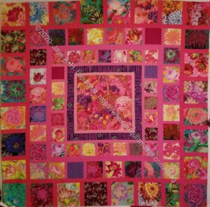 Pink Kaffe Quilt through border 8