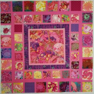 Pink Kaffe Quilt - late January