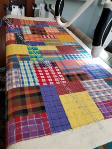 Plaid Donation Quilt in progress