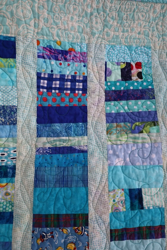 Blue Strips #2 detail