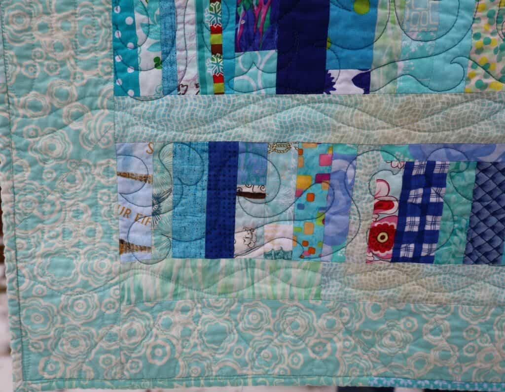 Blue Strips #2 detail