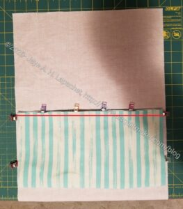 Sew across bottom of pocket
