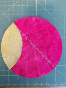 Fabric Completing Circle with Orange Peel
