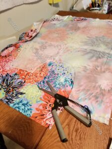 Cutting out Japanese Apron