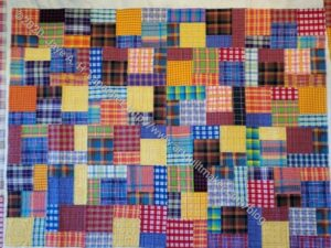 Plaid Donation Quilt- quilted