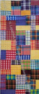 Plaid Donation Quilt- quilted (detail)