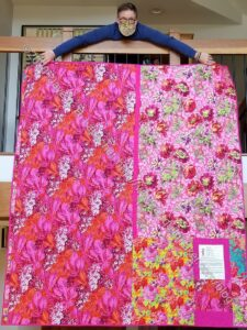 Pink Kaffe Quilt finished - back