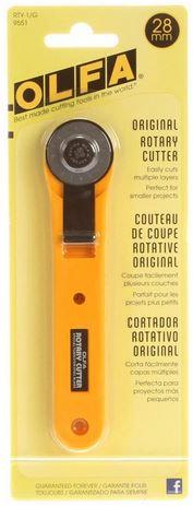 Olfa 28mm rotary cutter - straight handle