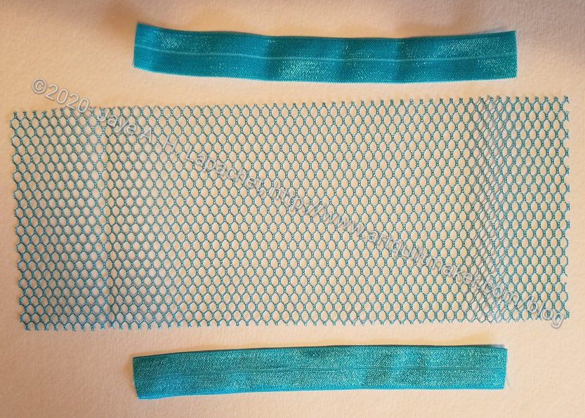 Cover mesh edges with double-fold elastic
