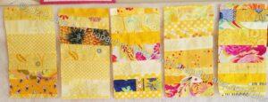 Five Yellow Donation Blocks