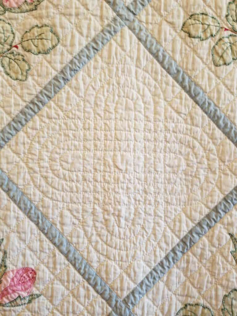Rosebud Applique' by EE Bryant-Lindeman - detail
