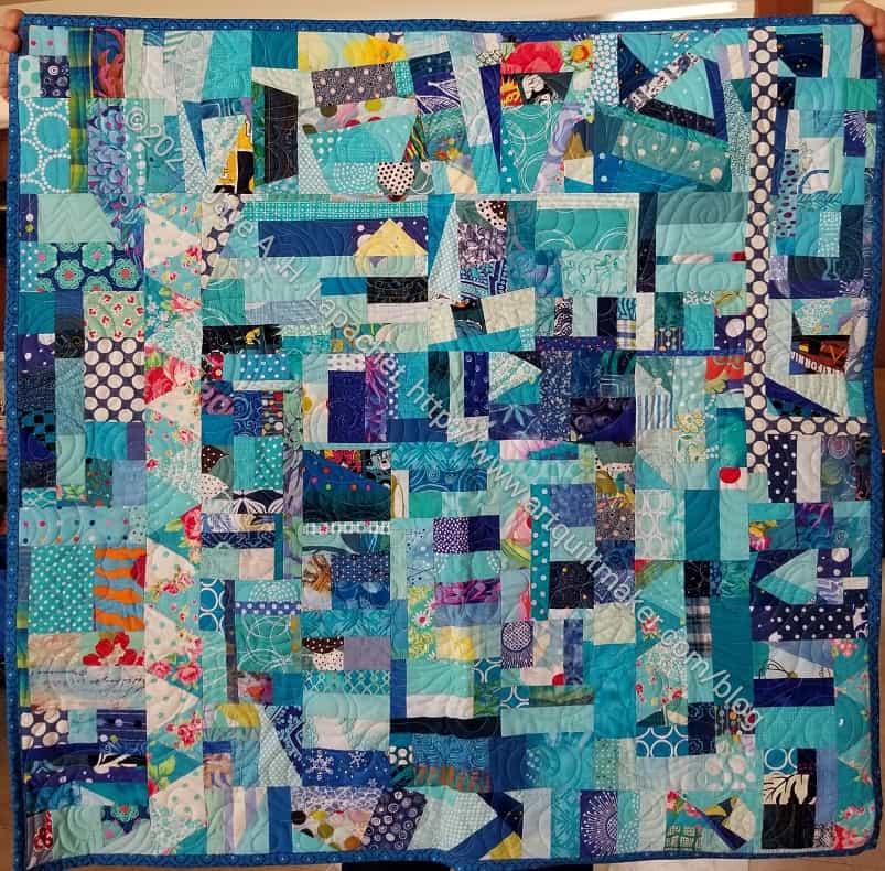 Blue Improv Donation Quilt