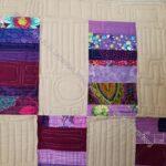 Purple Strip Donation Quilt - detail