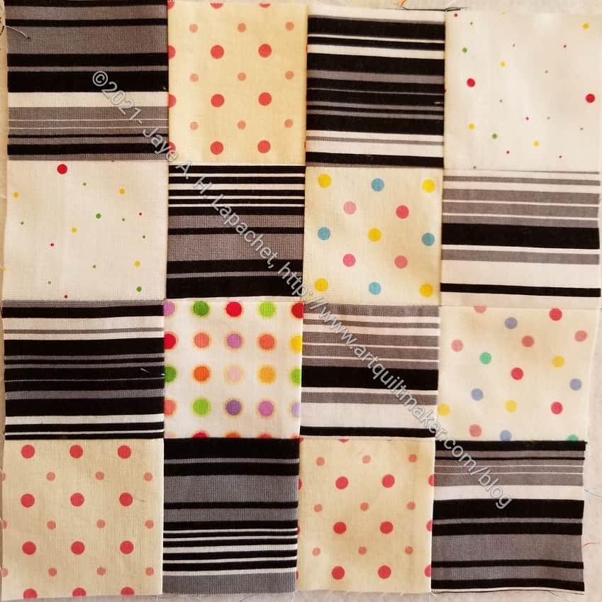 Black and White Stripe Donation Block