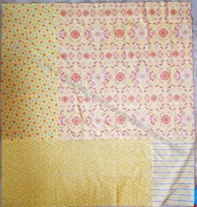Yellow Strip Donation Quilt Back