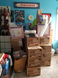 Boxes in the YM's room