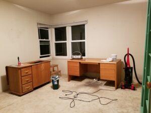 Workroom is almost empty