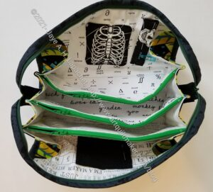 Leaf Sew Together Bag - open
