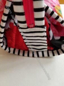 Brocade Peony / La Pass STB zipper tab detail