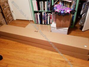 Bookshelves to be